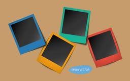 Quadros de foto colorida com sombras Imagens de Stock