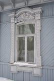 Quadros de janela do russo de madeira Imagem de Stock Royalty Free