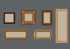 Quadros de madeira Imagem de Stock Royalty Free