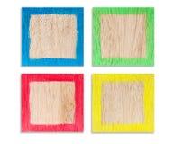4 quadros de madeira coloridos Imagem de Stock Royalty Free