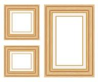 Quadros de madeira da foto. Foto de Stock Royalty Free