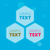 Quadros de texto sextavados Imagem de Stock Royalty Free