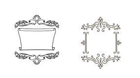 Quadros decorativos da garatuja para seu projeto Fotos de Stock Royalty Free