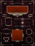 Quadros decorativos do victorian com rolos Vetor Imagem de Stock Royalty Free