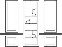 Quadros decorativos para o design de interiores ou a decoração Ilustração do Vetor