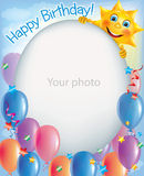 Quadros do aniversário para as fotos 2 Foto de Stock Royalty Free