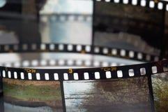 Quadros do filme da corrediça imagem de stock