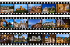 Quadros do filme - imagens do curso de Portugal minhas fotos Foto de Stock