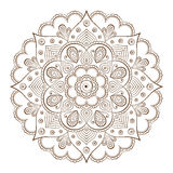 Quadros do fundo ou da tatuagem baseados em ornamento asiáticos tradicionais Fotografia de Stock