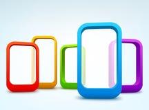 quadros do vetor 3d Imagem de Stock