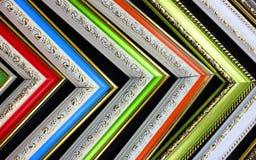 Quadros dos cantos antigos, sequência das cores fotos de stock royalty free