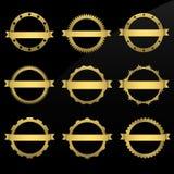 Quadros dourados redondos Imagem de Stock Royalty Free