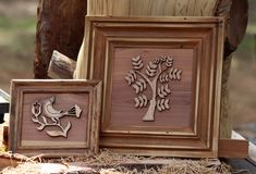 Quadros e Art Work Made From Wood Imagem de Stock