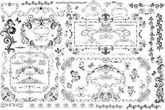 Quadros e título do vintage ilustração royalty free