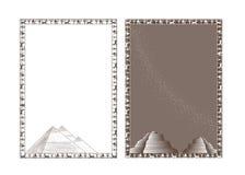 quadros Egípcio-temáticos com pyramides imagem de stock royalty free