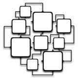 Quadros esquadrados múltiplos ligados junto Imagens de Stock Royalty Free
