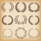 Quadros florais ajustados Imagens de Stock Royalty Free