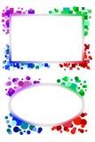 Quadros geométricos Imagens de Stock Royalty Free