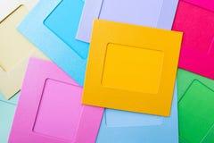 Quadros imediatos de papel coloridos da foto Imagem de Stock Royalty Free