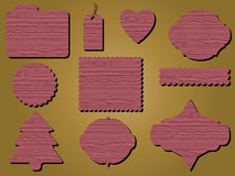 Quadros indicadores de madeira Fotos de Stock