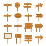 Quadros indicadores de madeira, sinal de madeira da seta Imagem de Stock Royalty Free