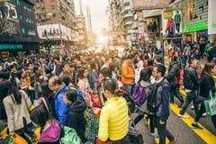 Quadros indicadores de néon em Hong Kong imagem de stock royalty free
