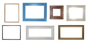quadros no fundo branco Imagens de Stock Royalty Free