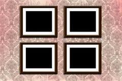 Quadros no papel de parede Imagens de Stock Royalty Free