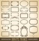 Quadros ornamentado ajustados (vetor) Imagens de Stock Royalty Free