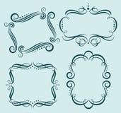 Quadros ornamentado caligráficos do vetor Fotografia de Stock Royalty Free