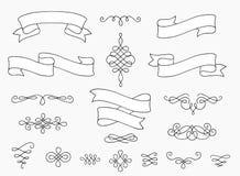 Quadros ornamentado e divisores do texto ilustração do vetor