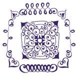 Quadros ornamentado e elementos do rolo Fotografia de Stock Royalty Free