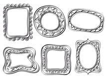 Quadros ornamentado elegantes ilustração royalty free