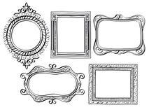 Quadros ornamentado elegantes ilustração stock
