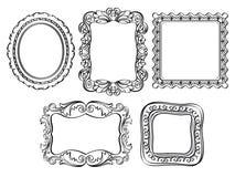 Quadros ornamentado elegantes Imagens de Stock Royalty Free