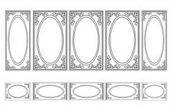 Quadros Ornamented decorativos para paredes ou fundos Imagens de Stock Royalty Free