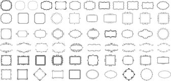 Quadros para logotipos e crachás Foto de Stock