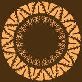 Quadros redondos étnicos tirados mão Elementos decorativos do projeto, ornamento do círculo no estilo tribal, formato do quadrado Imagens de Stock
