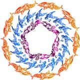 Quadros redondos ilustração royalty free