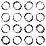 Quadros redondos sob a forma das grinaldas do louro Imagem de Stock Royalty Free