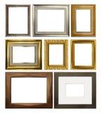 Quadros retangulares do vário vintage no fundo branco imagens de stock royalty free
