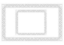 Quadros retangulares ornamentados, estilo étnico Georgian, caucasiano ilustração royalty free