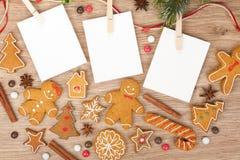 Quadros vazios da foto do Natal Imagem de Stock