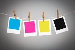 Quadros vazios da foto na linha Imagem de Stock