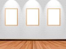 Quadros vazios no fundo da sala Fotografia de Stock