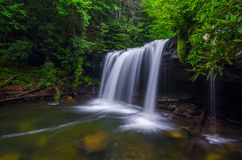 Quadrule Falls, summer, Martins Fork Wildlife Management Area Stock Image