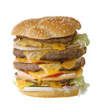 Quadruple Cheeseburger Royalty Free Stock Photography