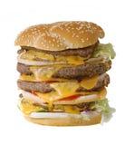 Quadruple cheeseburger Royalty Free Stock Photography