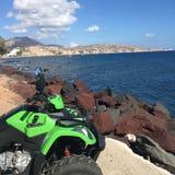 Quadruple romantique de la Grèce d'île de Santorini Photos libres de droits