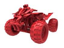 Quadruple-vélo rouge de jouet Images libres de droits